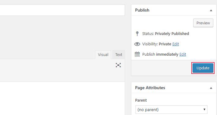 Página de WordPress