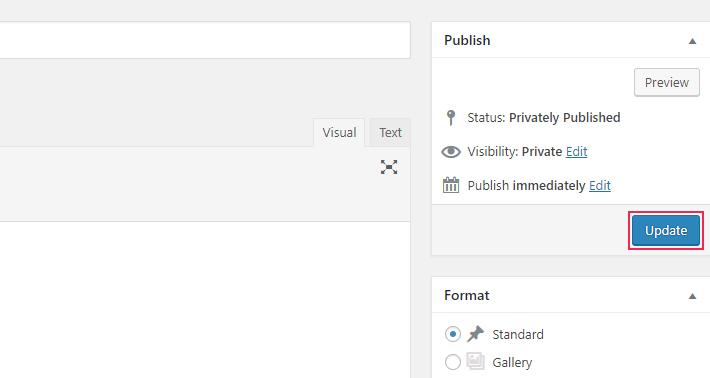 Publicación de WordPress