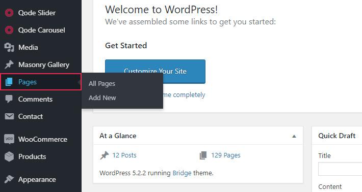 Hacer páginas privadas en WordPress