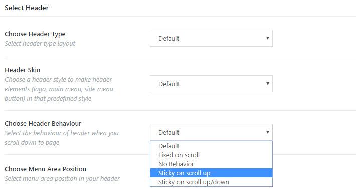 Configure el menú fijo solo para una o más páginas individuales