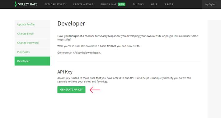 Regístrese para obtener una clave API