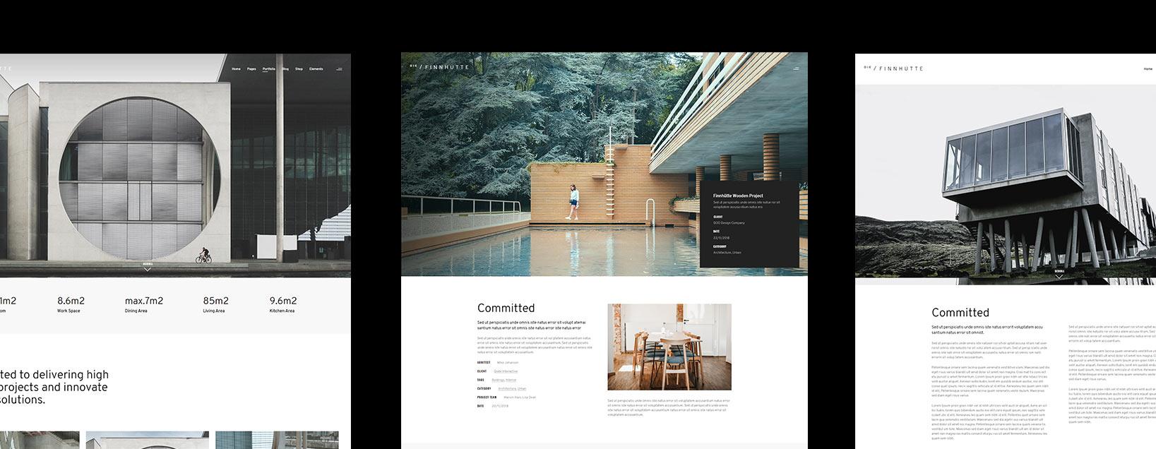 El diseño Die Finnhutte