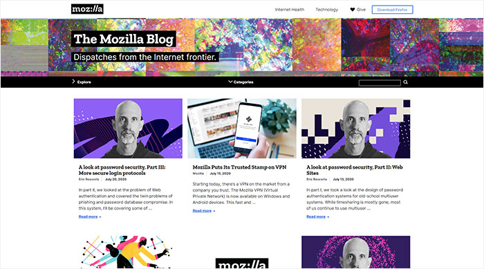 El blog de Mozilla